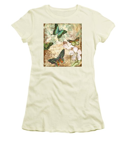 Vintage Butterfly Kisses  Women's T-Shirt (Junior Cut)
