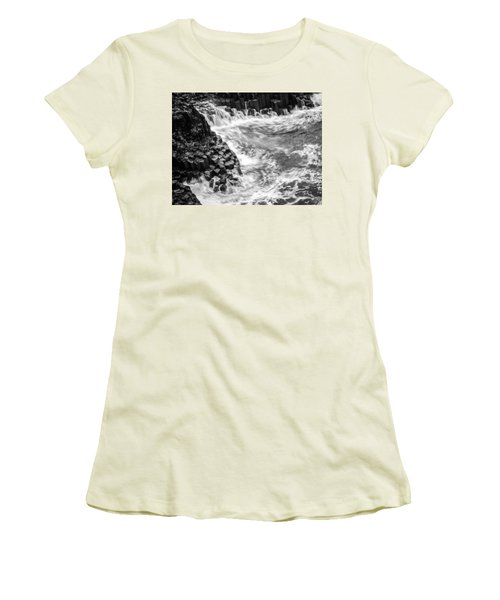 Volcanic Rocks And Water Women's T-Shirt (Athletic Fit)