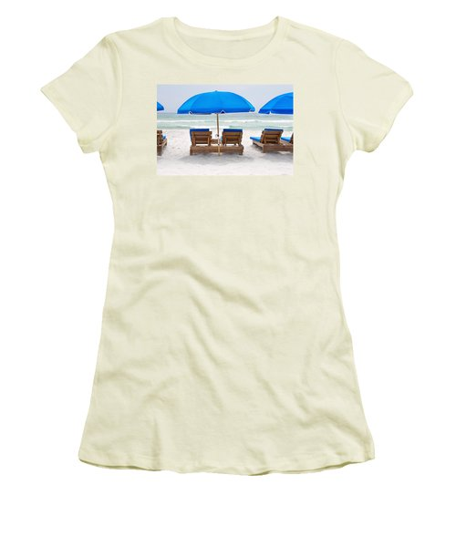 Panama City Beach Florida Empty Chairs Women's T-Shirt (Athletic Fit)