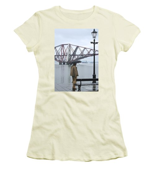 Women's T-Shirt (Junior Cut) featuring the photograph Waiting On High Street by Suzanne Oesterling