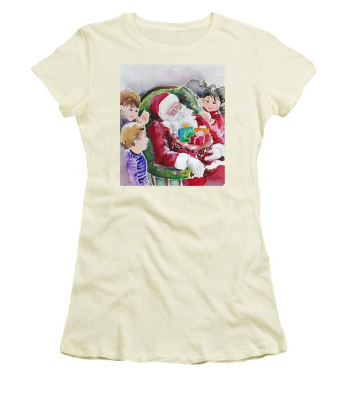 Waiting Up For Santa2 Women's T-Shirt (Athletic Fit)