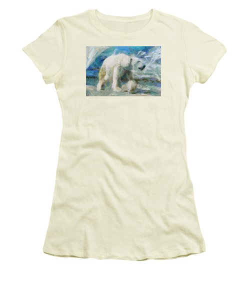 Women's T-Shirt (Junior Cut) featuring the painting Cold As Ice by Greg Collins