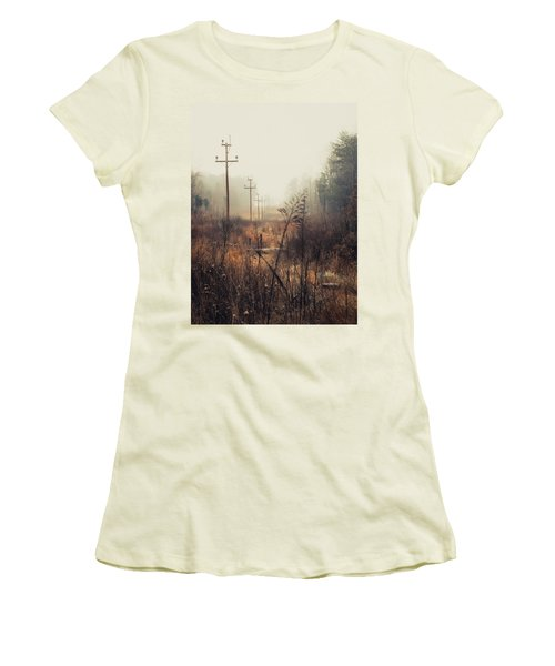 Walking The Lines Women's T-Shirt (Athletic Fit)
