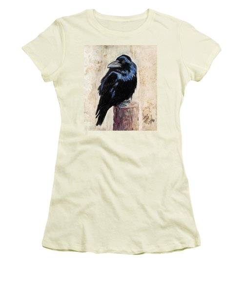 Watching And Waiting Women's T-Shirt (Junior Cut) by Billie Colson