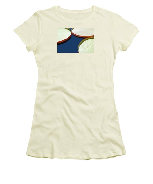 Water Lilly Platters Women's T-Shirt (Junior Cut) by Joseph J Stevens
