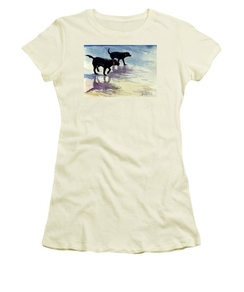 Waverunners Women's T-Shirt (Junior Cut) by Molly Poole