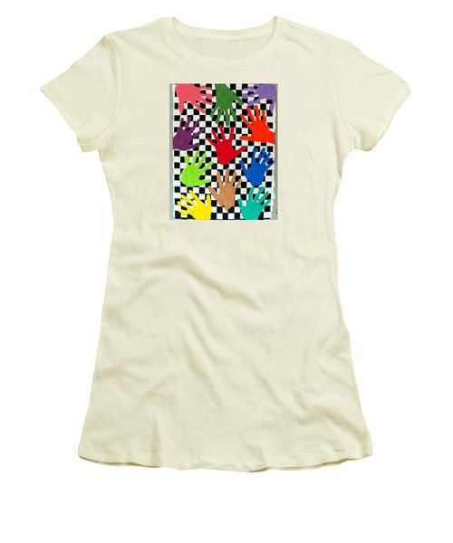 Weave #5 Hands On Women's T-Shirt (Athletic Fit)