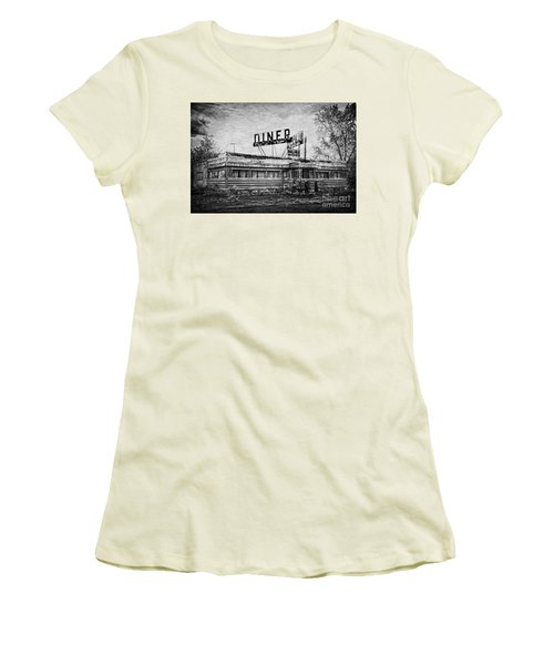 Women's T-Shirt (Junior Cut) featuring the photograph What Is On The Menu by Debra Fedchin