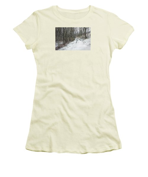 Where The Road May Take You Women's T-Shirt (Junior Cut) by Photographic Arts And Design Studio