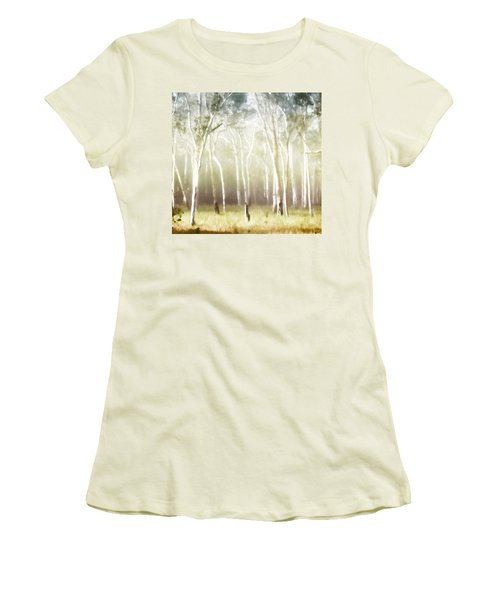 Whisper The Trees Women's T-Shirt (Junior Cut) by Holly Kempe