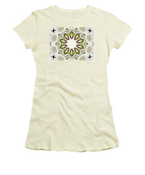 Women's T-Shirt (Junior Cut) featuring the photograph White Daisies Kaleidoscope by Rose Santuci-Sofranko