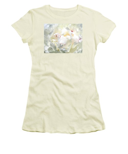White Peony Women's T-Shirt (Junior Cut) by Will Borden
