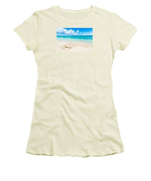 White Sand Women's T-Shirt (Junior Cut) by Chad Dutson