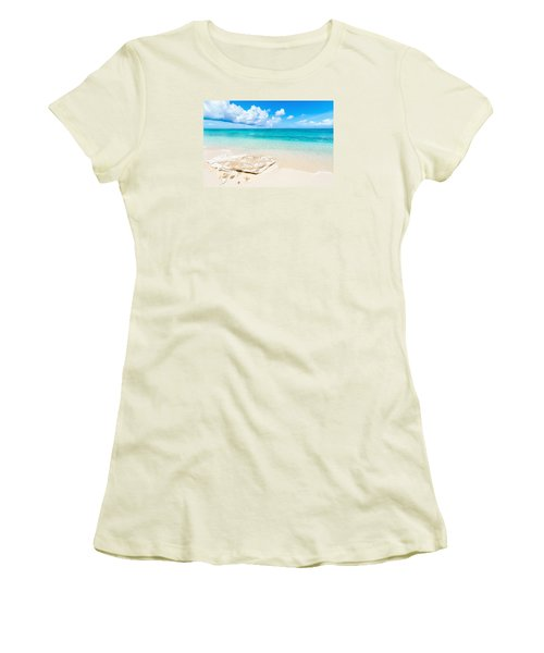 White Sand Women's T-Shirt (Junior Cut)