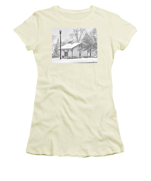 Whitehouse Train Station Women's T-Shirt (Junior Cut) by Jack Schultz
