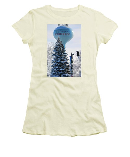 Whitehouse Water Tower  7361 Women's T-Shirt (Junior Cut) by Jack Schultz