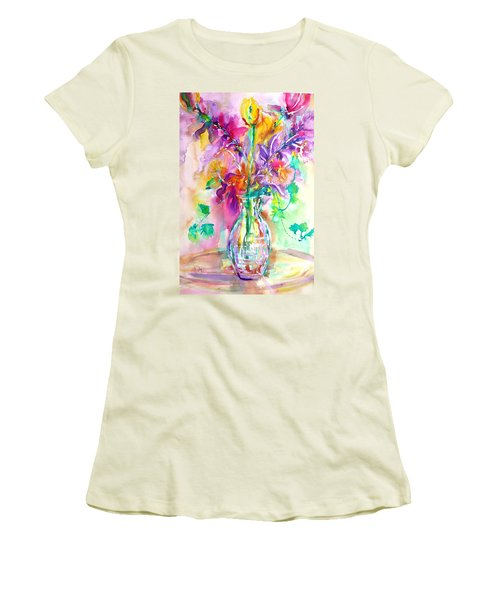 Wild Flowers Women's T-Shirt (Junior Cut) by Anna Ruzsan