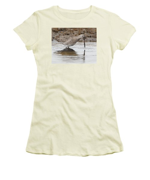 Willet Women's T-Shirt (Junior Cut) by Bill Wakeley