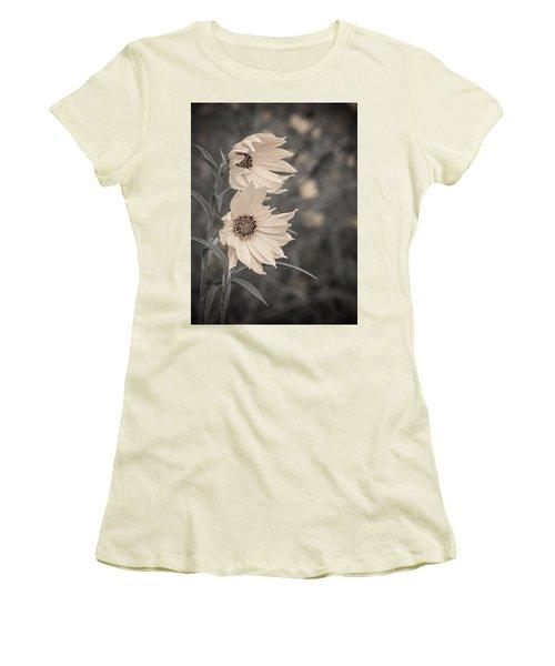 Windblown Wild Sunflowers Women's T-Shirt (Junior Cut) by Patti Deters