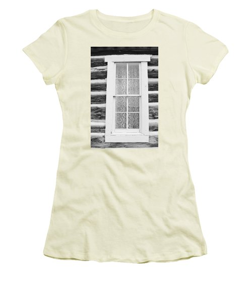 Women's T-Shirt (Junior Cut) featuring the photograph Window To The Old West by Diane Alexander