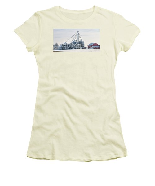 Winter Farm  7365 Women's T-Shirt (Junior Cut) by Jack Schultz