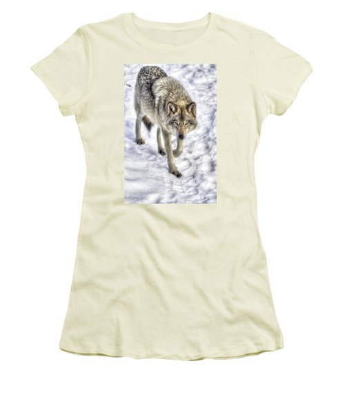 Winter Hunter Women's T-Shirt (Athletic Fit)