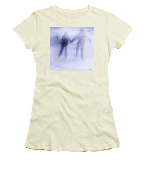 Winter Illusions On Ice - Series 1 Women's T-Shirt (Junior Cut) by Steven Milner