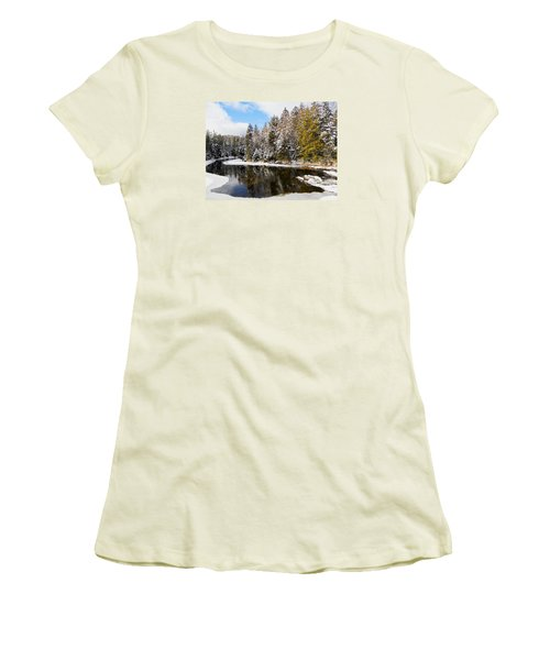 Women's T-Shirt (Junior Cut) featuring the photograph Winter Impressions ... by Juergen Weiss