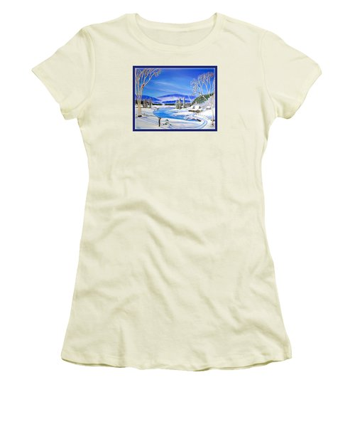 Winter Magic At A Mountain Getaway Women's T-Shirt (Athletic Fit)