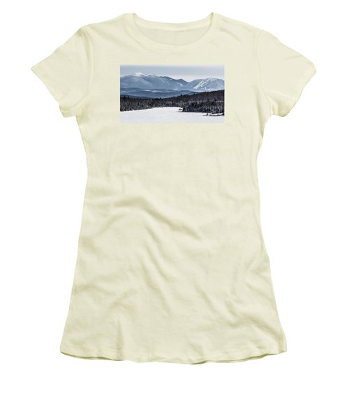 Winter Mountains Women's T-Shirt (Athletic Fit)
