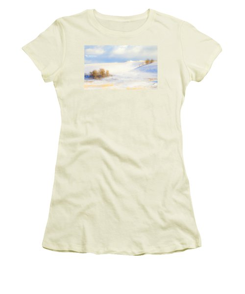 Winter Poplars Women's T-Shirt (Athletic Fit)