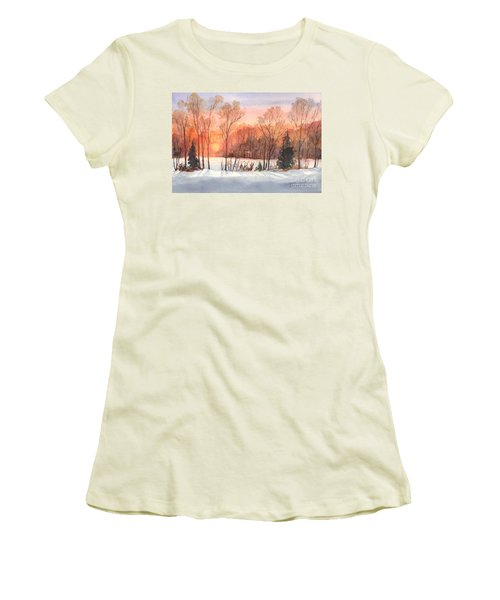 A Hedgerow Sunset Women's T-Shirt (Athletic Fit)
