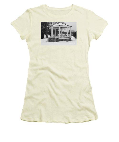 Winter Time Gazebo Women's T-Shirt (Junior Cut) by John Telfer