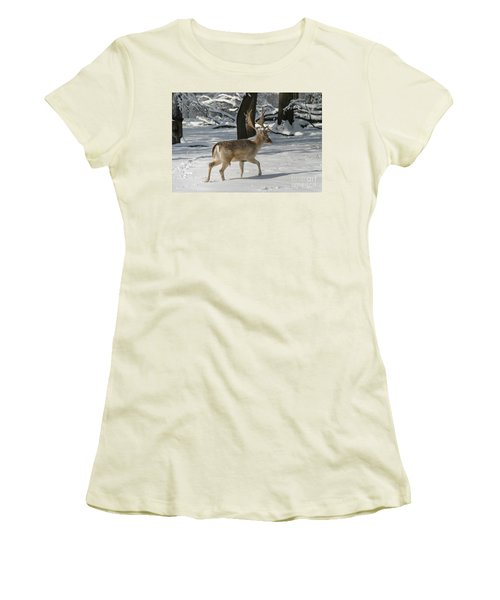 Winter Walk Women's T-Shirt (Junior Cut) by Living Color Photography Lorraine Lynch