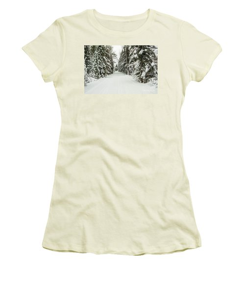 Women's T-Shirt (Junior Cut) featuring the photograph Winter Wonder Land by Patrick Shupert
