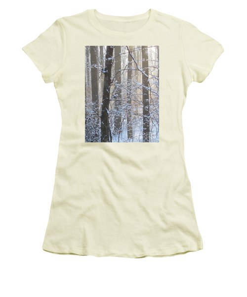 Winter Woodland Women's T-Shirt (Athletic Fit)
