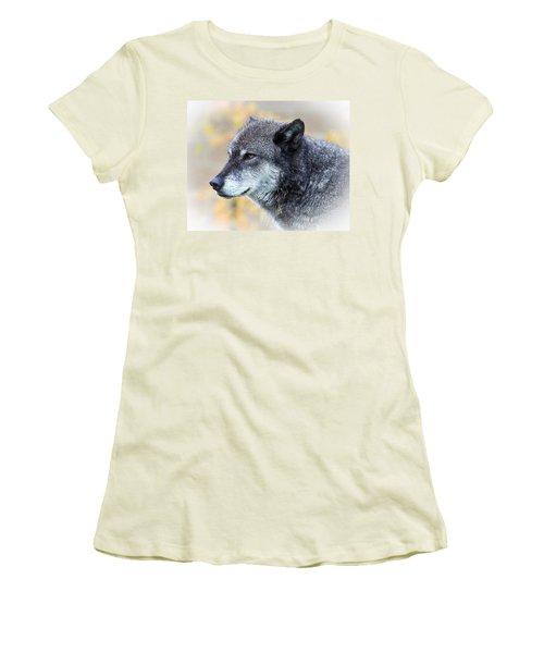 Wolf Women's T-Shirt (Junior Cut) by Steve McKinzie