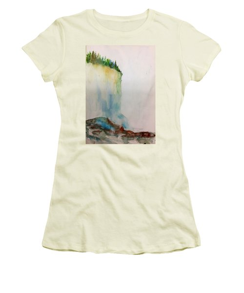 Woodland Trees On A Cliff Edge Women's T-Shirt (Athletic Fit)
