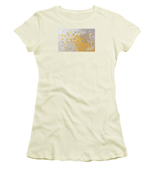Yellow Cloud Women's T-Shirt (Athletic Fit)