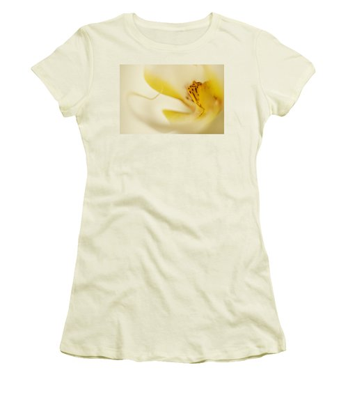 Yellow Orchid Women's T-Shirt (Junior Cut)