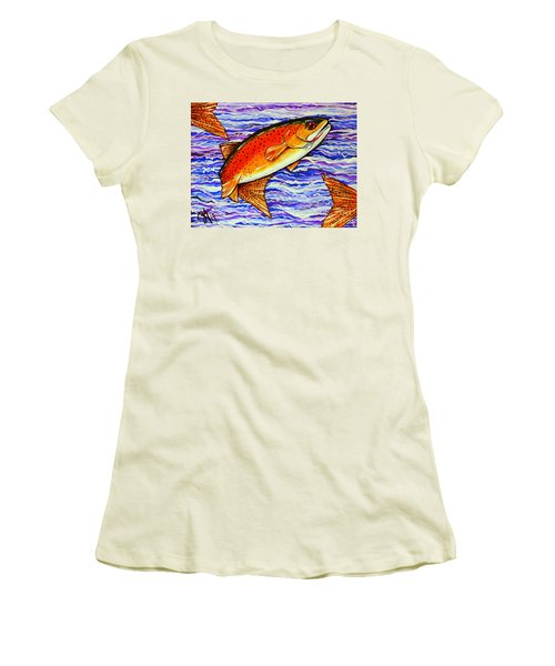 Yellowstone Cutthroat Women's T-Shirt (Junior Cut) by Jackie Carpenter
