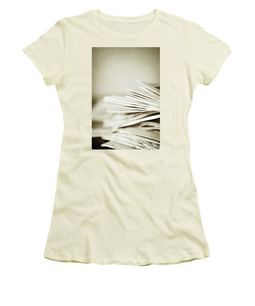Women's T-Shirt (Junior Cut) featuring the photograph Yesterday's News by Trish Mistric