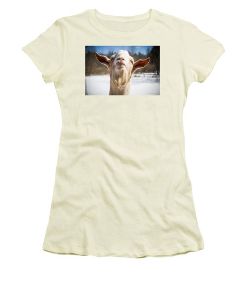 'yoda' Goat Women's T-Shirt (Athletic Fit)