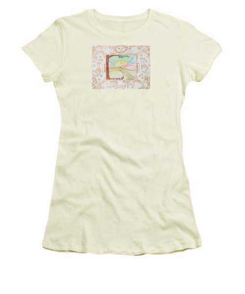 Women's T-Shirt (Junior Cut) featuring the painting You Are My Sunshine by Cassie Sears