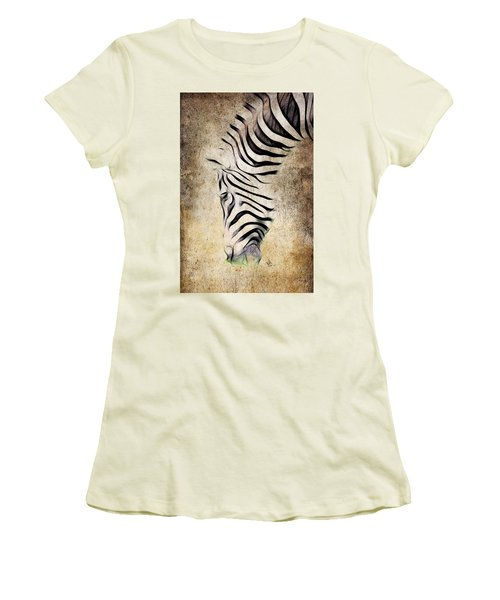 Zebra Fade Women's T-Shirt (Athletic Fit)