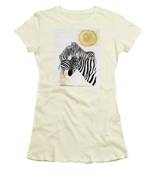 Zebra Quintet Women's T-Shirt (Athletic Fit)