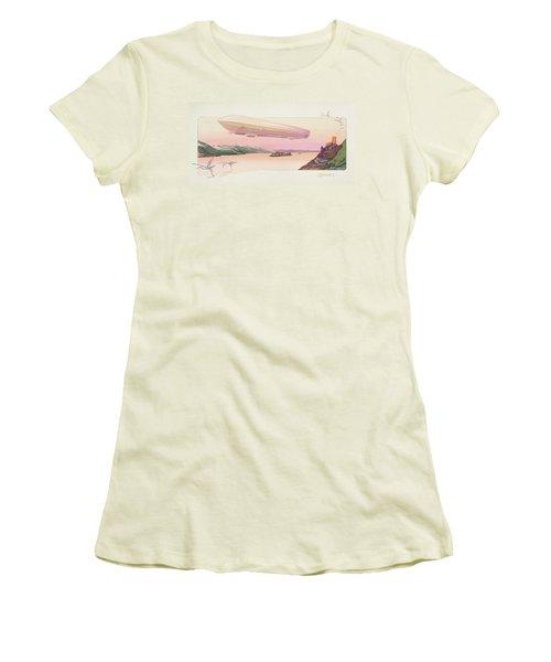 Zeppelin, Published Paris, 1914 Women's T-Shirt (Junior Cut) by Ernest Montaut