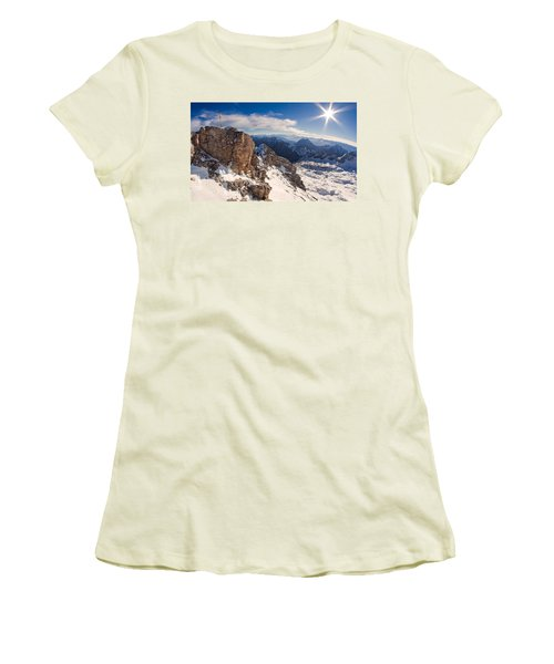 Zugspitze Summit Women's T-Shirt (Athletic Fit)