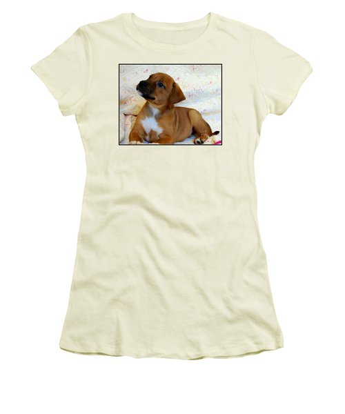 Women's T-Shirt (Junior Cut) featuring the photograph   Take Me Home Please by Peggy Franz