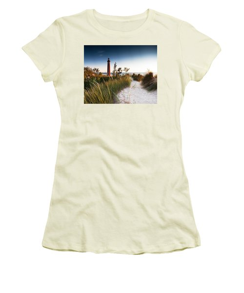 Little Sable Point Light Station Women's T-Shirt (Athletic Fit)